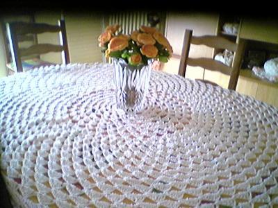 Nappe pour table ovale le tricot ma passion for Nappe pour table ovale